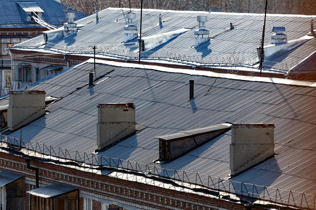 This is a picture of a commercial roofing.